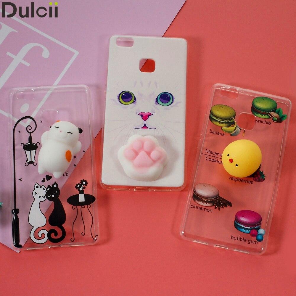 Dulcii Хлюпать руб 3D силиконовые замесить Кот ТПУ чехол для телефона Huawei G9 Lite Squishy чехол для Huawei P9 Lite (2017) squishy Чехол