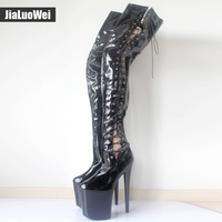 New Sexy Over The Knee Long Boots Women S Lace Up Shoes Fashion Thick Heel High