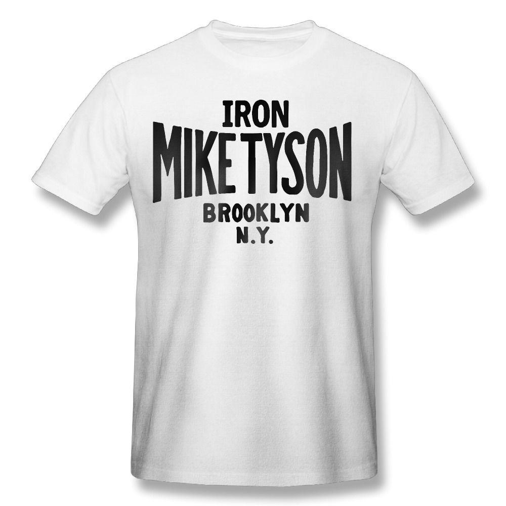 2017 men's IRON MIKE TYSON fashion funny custom Print Slim Fit T Shirt Top quality cotton Tops Tees