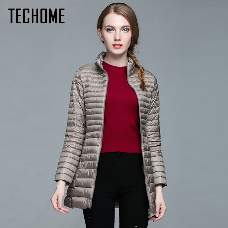 2017 Fashion Winter Women Down Jacket 90% Down Coat Female Ultra-light Long Parka Elegant Outwear Warm Ladies Outerwear 3XL 4XL