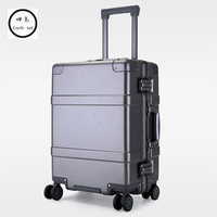 Новые 20 24 дюймов мужчин Алюминий Рамка ПК прокатки hardside чемодан путешествия троллейбус случае кабина чемодана для девочек женские дорожна