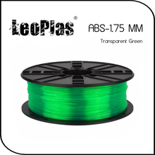 Worldwide Fast Delivery Direct Manufacturer 3D Printer Material 1kg 2.2lb 1.75mm Transparent Green ABS Filament