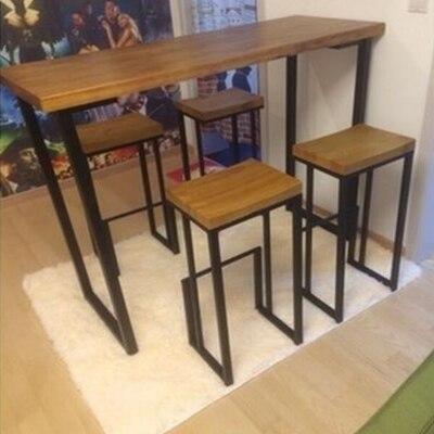 Hierro americano sillas de Bar hacer el viejo retro Bar de madera ...