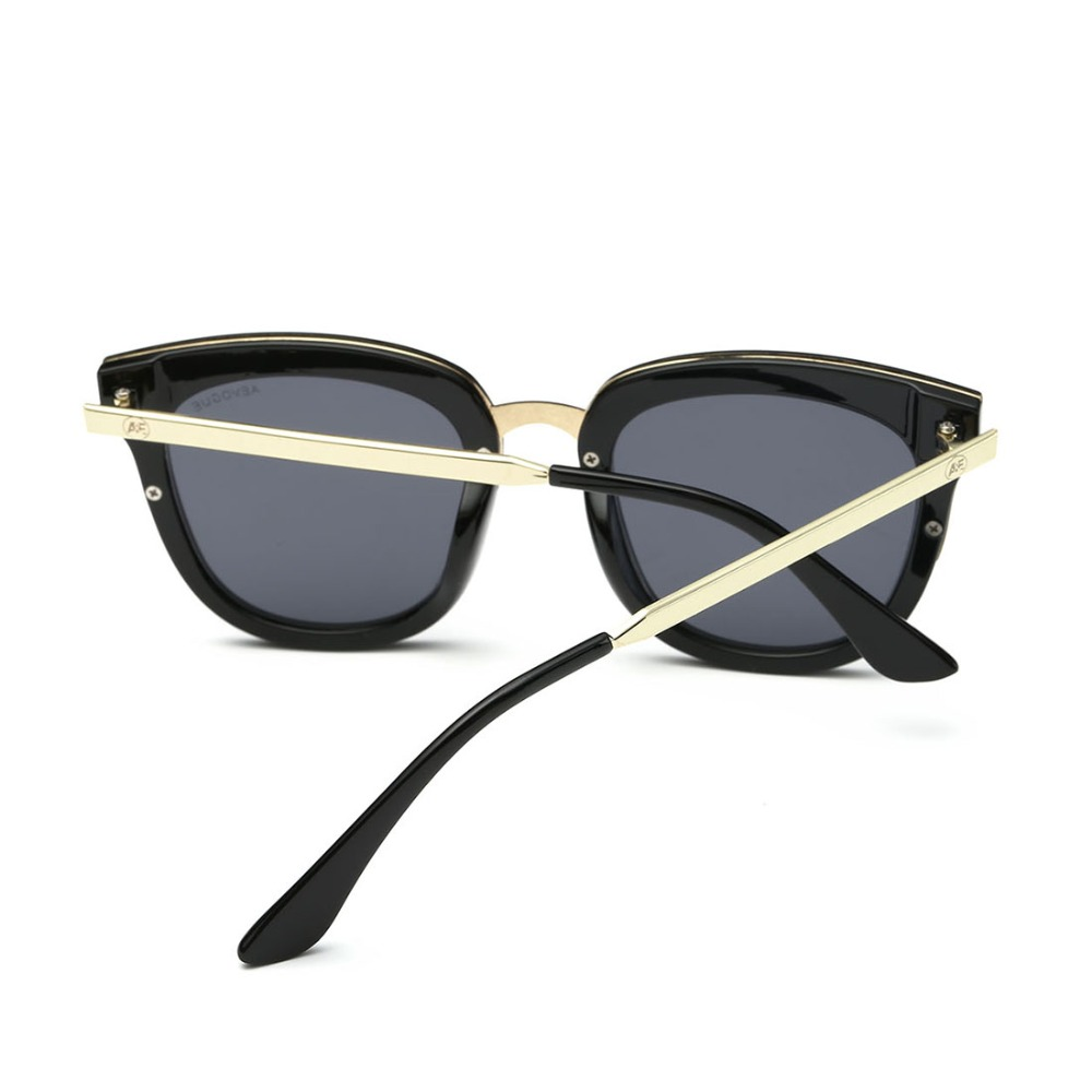 5dd5792da7 AEVOGUE Original Sunglasses Women Newest Luxury Brand Designer Alloy Temple  Flat Lens Sun Glasses Vintage With Box UV400 AE0388-in Sunglasses from  Apparel ...