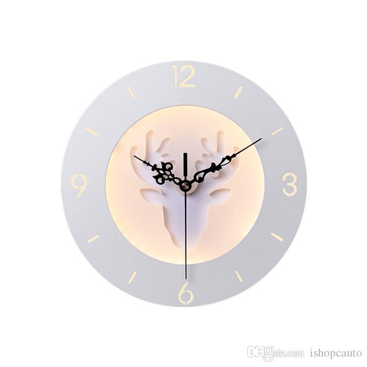 Creative horloge applique lampe chevet chambre lumières décoratives salon TV fond mur chambre d'enfant luminaire