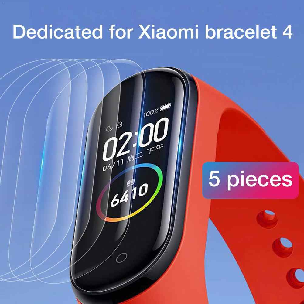 5Pcs Hydrogel Protective Tempered Film for Xiaomi Mi Band 4 Protection Film Full Screen Permeability Film HD Explosion