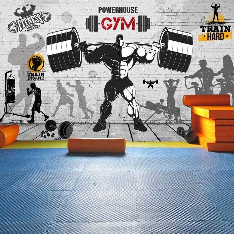 photo wallpaper Nostalgic retro graffiti brick wall mural sports fitness club background wall gym custom wallpaper caterham 7 csr
