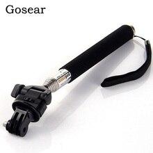 Gosear Camera Selfie Stick Pole Monopod Statief Houder Adapter voor Gopro Go Pro Hero 5 4 3 2 1 Sjcam SJ4000 Xiaomi Yi