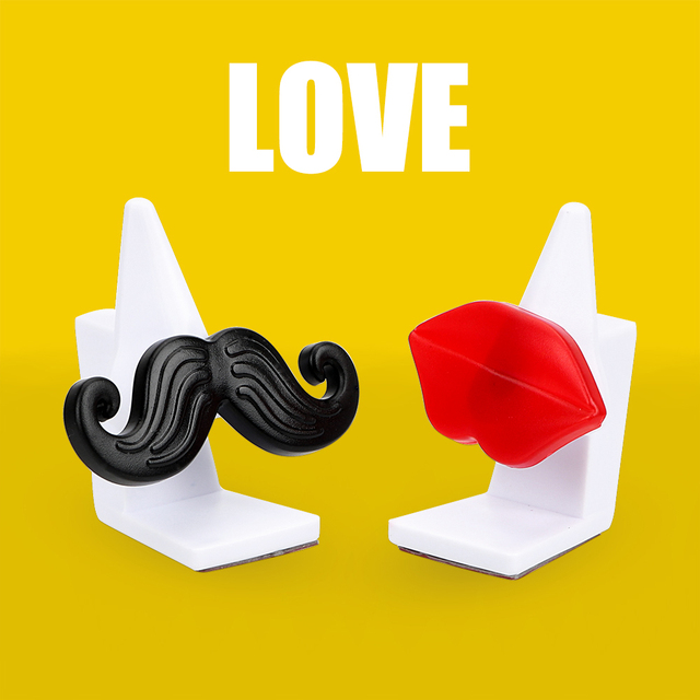 Sunglasses Eyeglasses Clip Car Ornament Auto Accessories Moustache Red Llips Glasses Stand Glasses Cases Car Glasses Holder