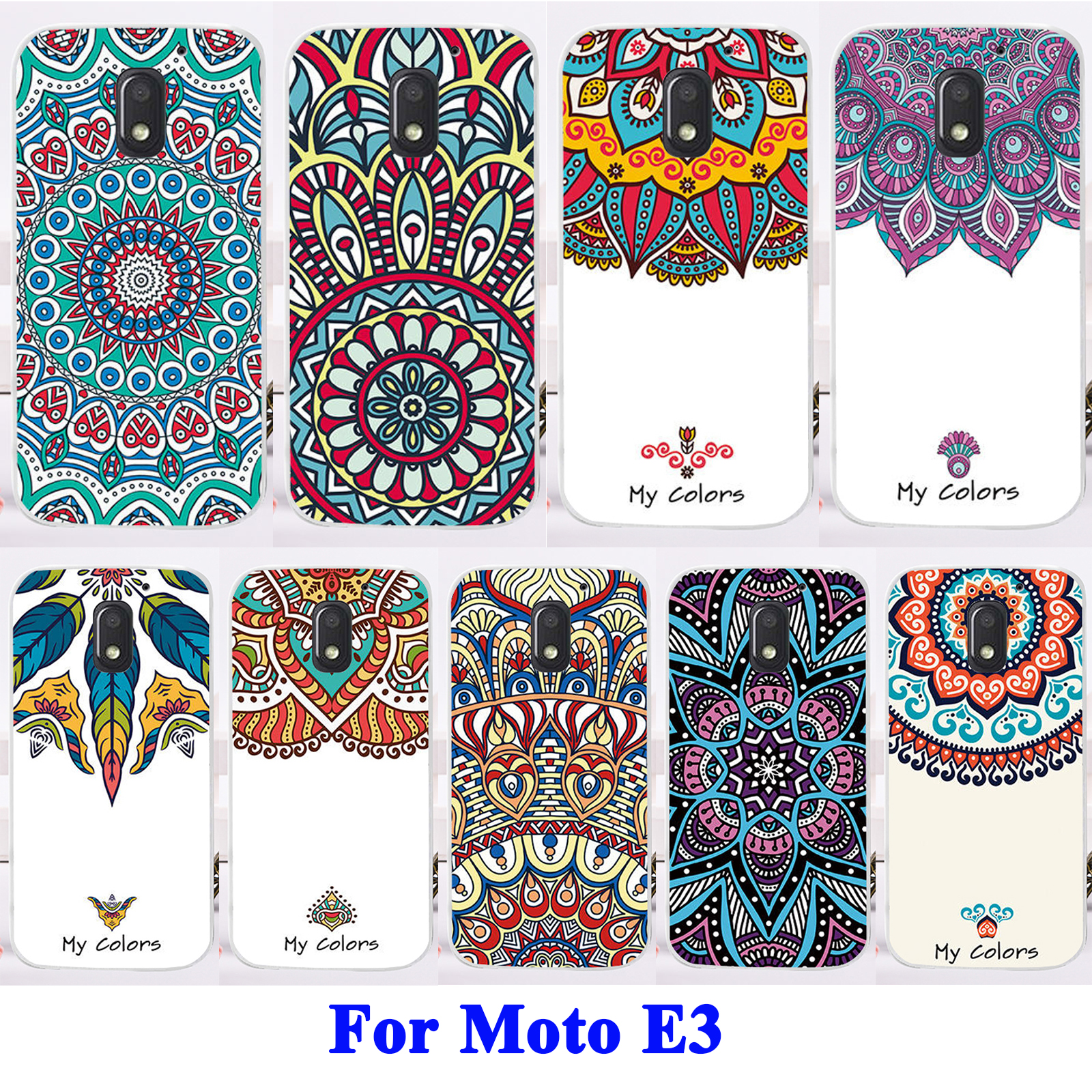 Mobile Phone Skins For Motorola Moto E3 Case Durable Hard Shell Case Painted Western Europe L Series Protective Cover Case Coque