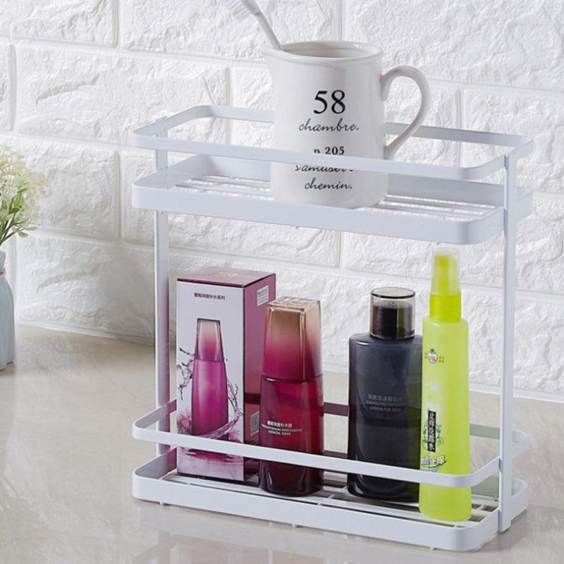 Kitchen Storage Shelf Bottles Flavoring Household Bathroom Organizer Storage Rack Tableware Seasoning Storage Rack A30