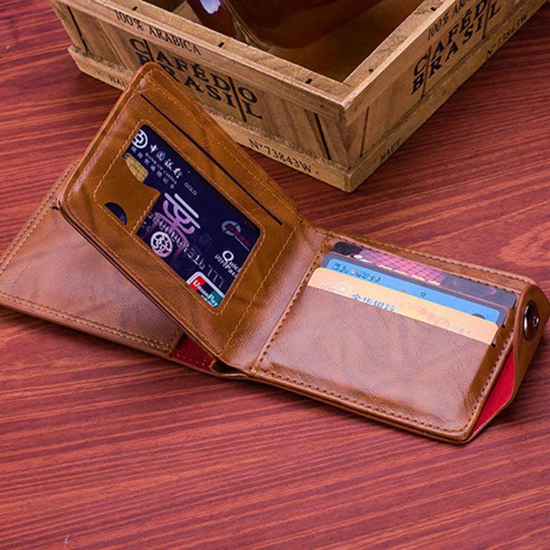 Men Vintage Wallet PU Leather Dollar Pattern Designer Men's Wallets Casual Credit Card Holder Purse Wallet For Male Money Bag (9)