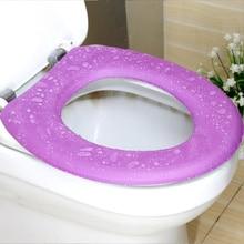 Toilet Seat Waterproof EVAFour Seasons Environmental Comfort Solid Color Viscose Bucket Toilet Warmth Protector Home Accessories
