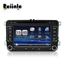 Beiinle  for VW Golf Polo Passat Bora Tiguan Touran  DVD GPS Radio Stereo Player Car 2 Din