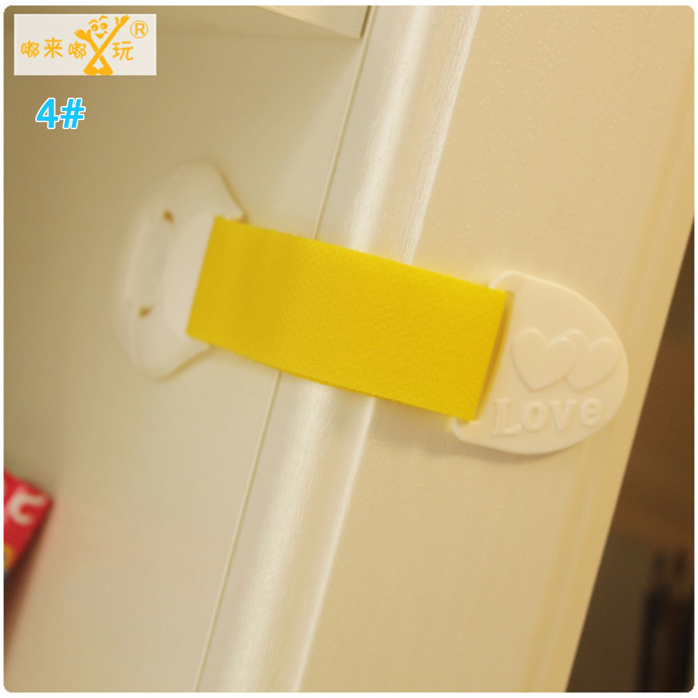 Замок холодильника блокирующий замок для шкафа Детские Детская безопасность замок ABS ящики уход за младенцем дома Творческий холодильник для детей - Цвет: yellow