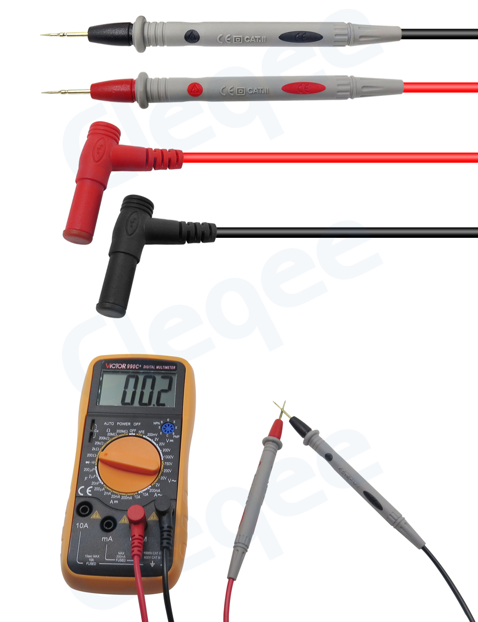 HTB1i9LVXffsK1RjSszgq6yXzpXaW Cleqee Multimeter probes replaceable needles test leads kits probes for digital multimeter cable feeler for multimeter wire tips