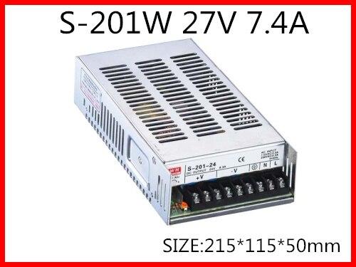 201W 27V 7.4A  Single Output Switching power supply for LED Strip light  AC-DC 1200w 48v adjustable 220v input single output switching power supply for led strip light ac to dc
