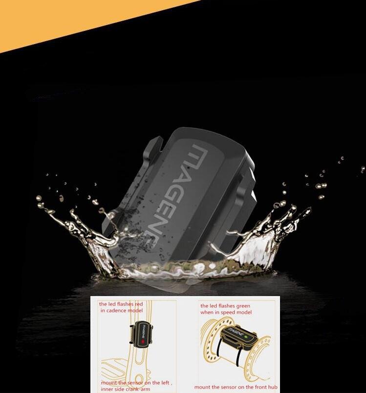 MAGENE gemini200/210 Sensore di Velocità cadenza ant + Bluetooth per Strava garmin bryton calcolatore della bici della bicicletta