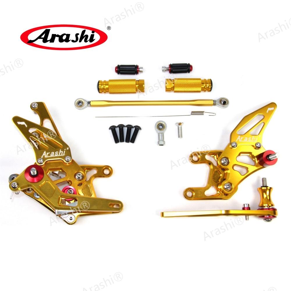 Arashi CNC Adjustable Foot Peg For HONDA CBR1000RR 2008 2011 Motorbike Footrest CBR1000 CBR 1000 RR 1000RR Aluminum Accessories