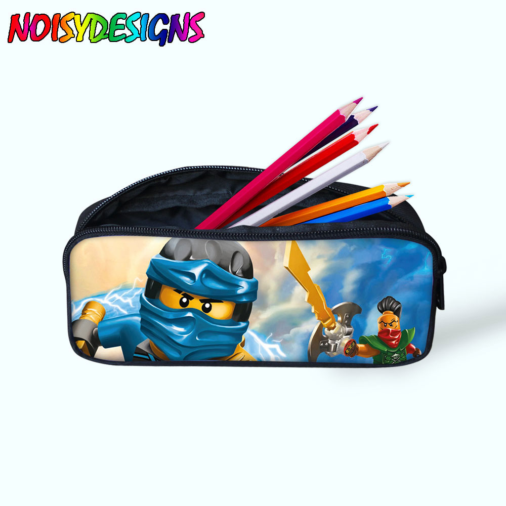 Women Ninjago Games Printing Make up Cases Cosmetic Bags 3D Pencil Pouch Children Girl Holder Boys Travel Portable Supplies
