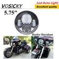 Мотоцикл Чип Водонепроницаемый 40 Вт 6000 К DRL Hi Low Daymaker 5.75 Дюймов 5 3/4 ''Фар Лампа Для Harley фары