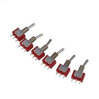 6 Pcs AC 250V 2A 120V 5A SPDT On/Off/On 3 Position Momentary Toggle Switch