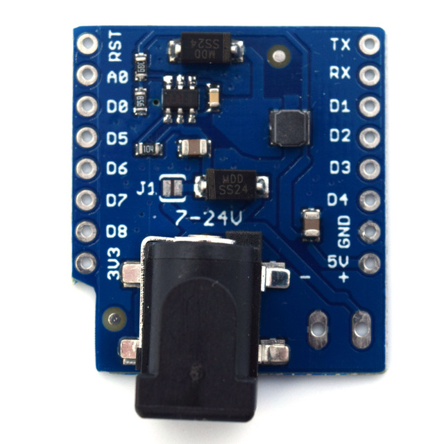 DC 電源シールド V1.1.0 ため LOLIN (WEMOS) D1 ミニ