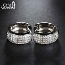 Effie Queen Newest Style Micro Paved 98 pcs AAA Zircon Stud Earrings For Women Birthday Gift