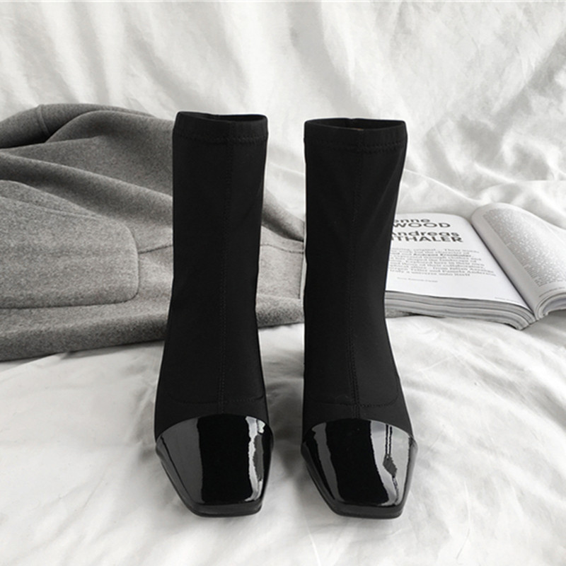 Sapatos de trabalho pesado, saltos baixos, profissional de moda, casual dating - 3