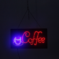 Coffee Shop Led Neon Sign Square Waterproof Outdoor Hanging Coffee LED Letter Board