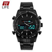 TTLIFE 1131 Sport Watch Luxury Full Steel LED Analog Digital Military Watches Men Wristwatch Role Top Brand Relogio Masculino