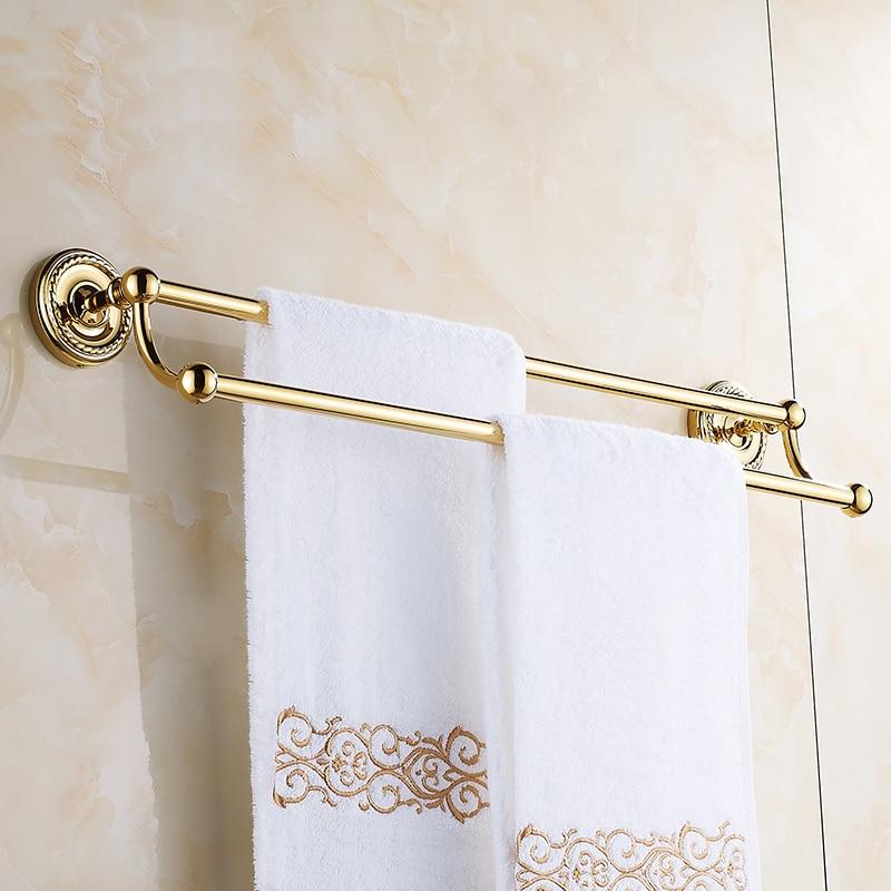 Kunst kupfer bad doppel handtuchhalter rack gold, europäische antike ...