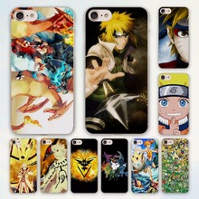 anime Japanese NARUTO Pokemons design hard clear Case Cover for Apple iPhone 7 6 6s Plus SE 4s 5 5s 5c Phone Case