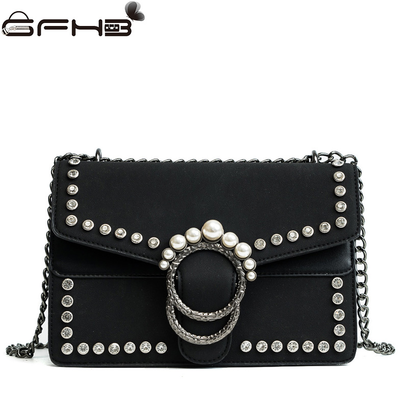 Luxury Designer Women Handbags Leather Crossbody Bags Famous Brands Michael Handbag Fashion Diamonds Pearl Bag Sac A Main Femme luxury handbags women bags designer brands women shoulder bag fashion vintage leather handbag sac a main femme de marque a0296