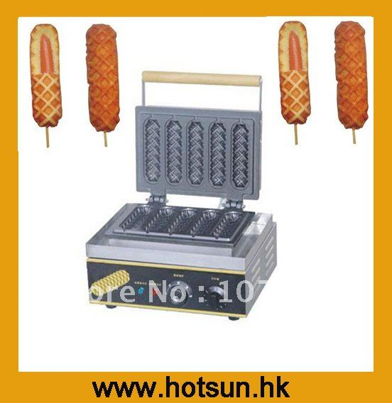 Hot Sale 110V/220V Commercial Use Electric Muffin Waffle Hot Dog Maker Machine