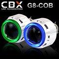 CBX-G8-COB 2.5 pulgadas Mini HID Bi xenon Lente Del Proyector con Super brillante COB Angel Eye de Halo 2 UNIDS para H4 H7 Linterna Del Coche LHD/RHD