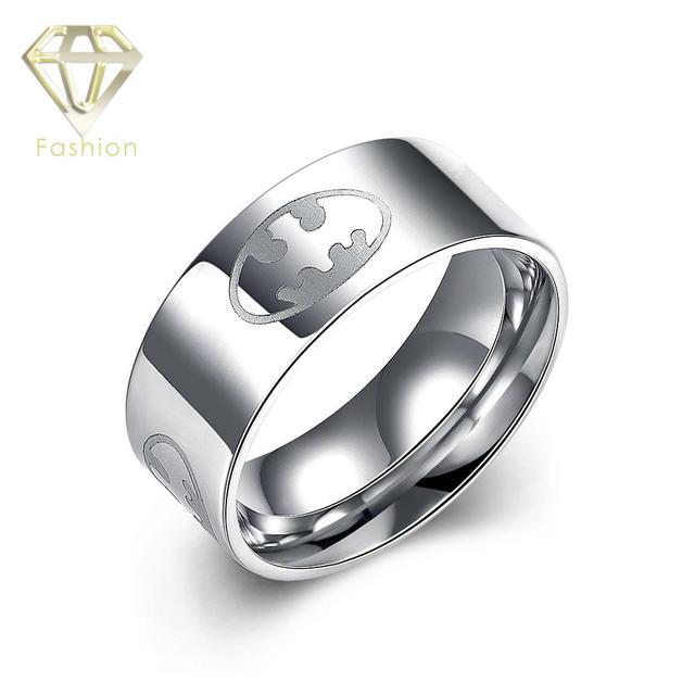 Wedding Ring for Men Trendy 316L Stainless Steel Batman Rings