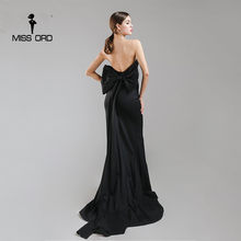 Missord 2020 เซ็กซี่ห่อ Bow Halter Maxi Dress PARTY FT4792-1(China)
