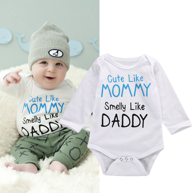 ce1294952 2017 New fashion Newborn baby clothes baby boy girl Rompers long ...
