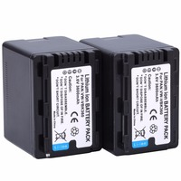 2Pcs VW VBK360 VW VBK360 VWVBK360 Camera Battery for Panasonic HDC HS80 SD40 SD60 SD80 SDX1 SDR H100 H85 H95 HS60 HS80 TM60