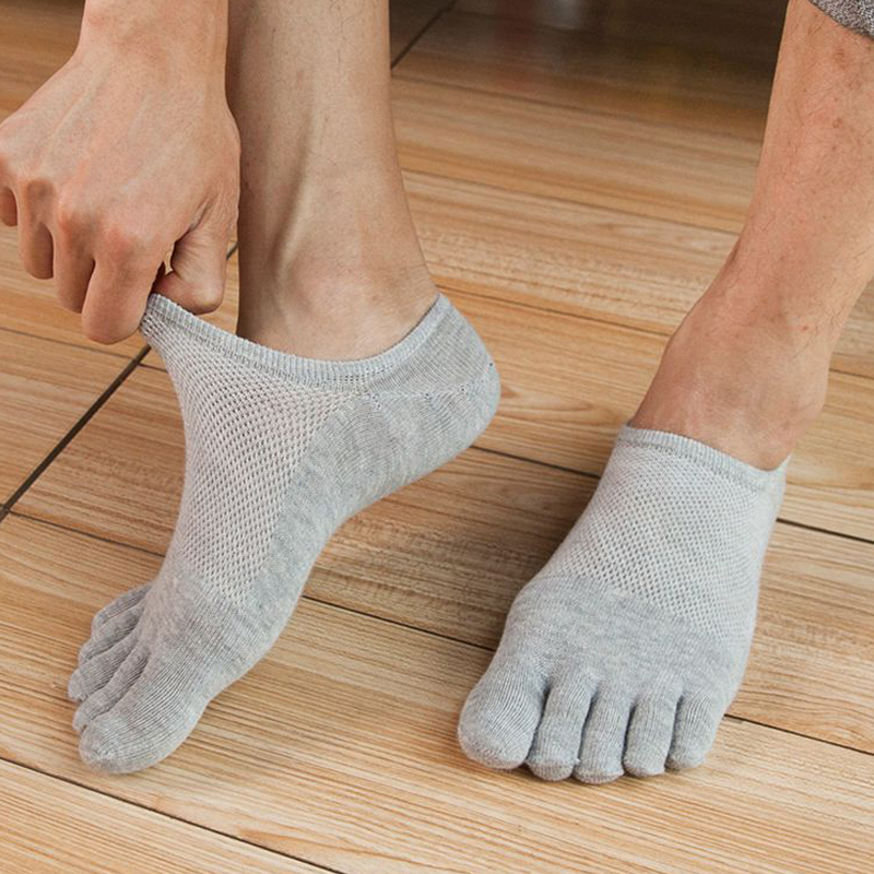Sale Five Finger Toe   Socks   Men Breathable Cotton Nonslip   Socks   Anti-skid Calcetines No Show Short Invisible   Socks