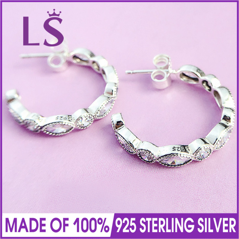 LS 925 Silver Alluring Brilliant Marquise Earrings Silver Earring Fit Original Women Gif ...