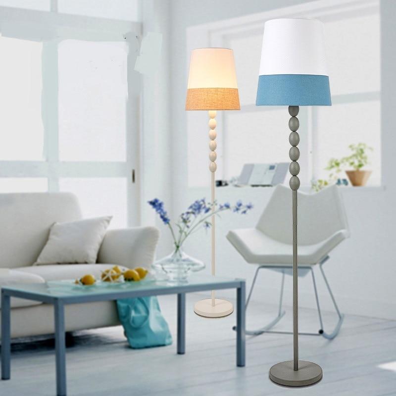 Living room floor lamp study bedroom cloth art fashionable floor lights brief decorate Retro ground floor standard lamp ZA81045