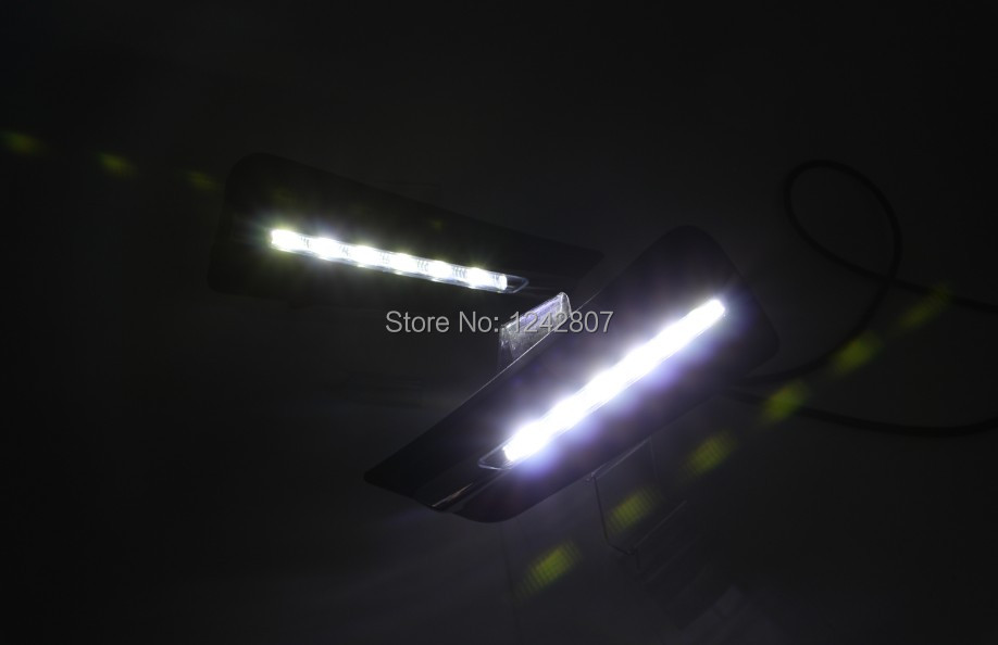 New!! City 2014 led drl daytime running light fog lamp top quality pure white no error super bright top quality fast shipping автоинструменты new design autocom cdp 2014 2 3in1 led ds150