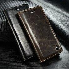 Caseme Роскошные Винтаж кожа флип Бумажник чехол для OnePlus 5 Case Магнитный Флип кожаный держатель Стенд чехол для OnePlus5 случае