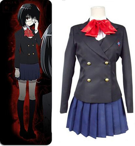 Image 3 - Disfraz de Akazawa de otro Misaki Mei, cosplay de anime de Izumi para mujeres y niñas, Japonesa uniforme de Escuela, falda, disfraz y peluca para Halloween, 8 Uds.