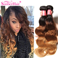 Ombre Brazilian Hair Extensions Body Wave Three Tone Ombre Human Hair Weave T1B/4/27 Ombre Braiding Hair Wavy Ombre Virgin Hair