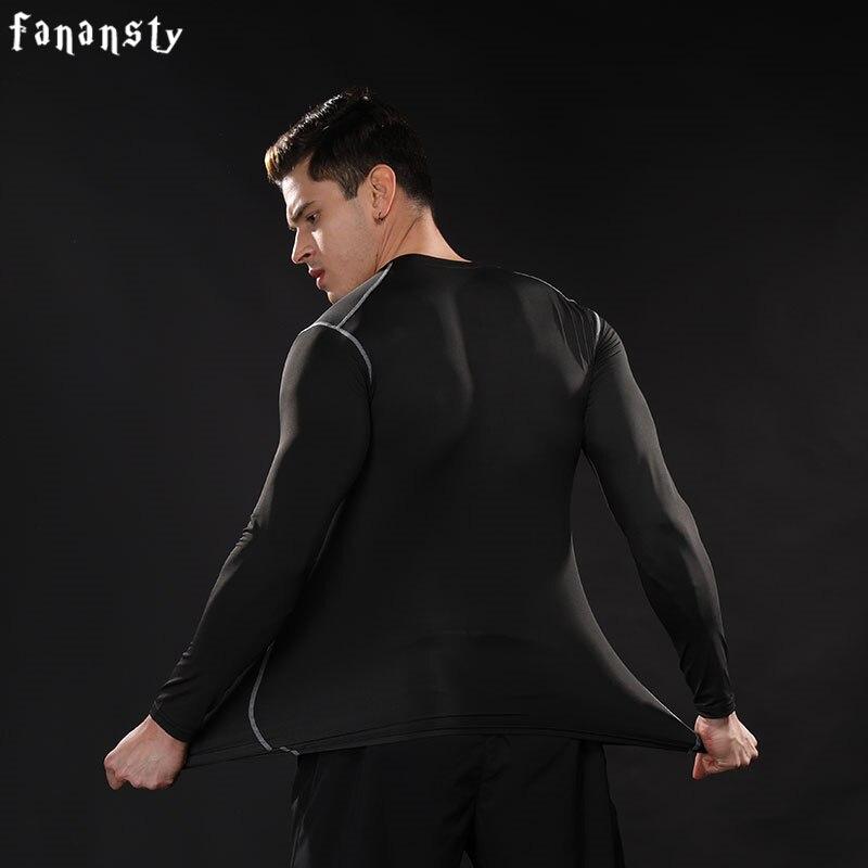Kompression shirt Männer Langarm Fitness Schnell trocknend Laufen - Sportbekleidung und Accessoires - Foto 6