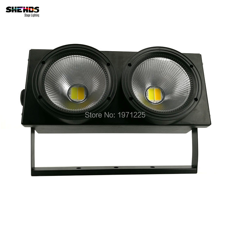 2eyes 2x100w LED COB Light DMX Stage Lighting Effect Led Blinder Light ,Cool White and Warm White  rasha brand 2 100w 2in1 cob ww cw led blinder light stage audience studio blinder light theater light