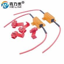 KELIMI Add-on Decoder Load Resistor 10W 25W 50W LED Flash Rate Canbus No Error Canceller Decoder цена и фото